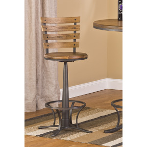 Westview Swivel Counter Stool - Dark Silver Hammer