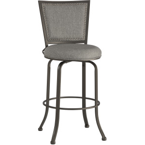 Belle Grove Commercial Grade Swivel Bar Stool - Ash