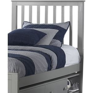 Schoolhouse 4.0 Twin Marley Mission Headboard - Gray