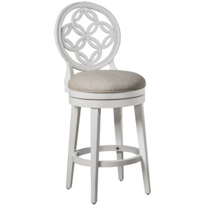 Savona Swivel Bar Stool - White