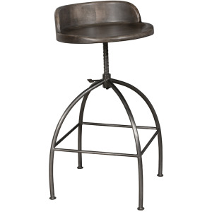 Bridgewater Adjustable Stool - Brushed Gray