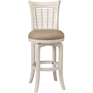 Bayberry Swivel Barstool - White
