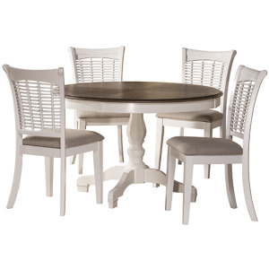 Bayberry 5pc Round Dining Set - White