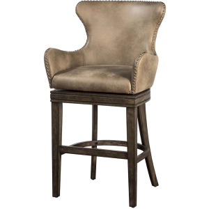 Caydena Swivel Return Memory Counter Stool