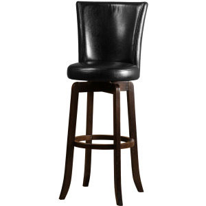Copenhagen Swivel Counter Stool - Black/Walnut