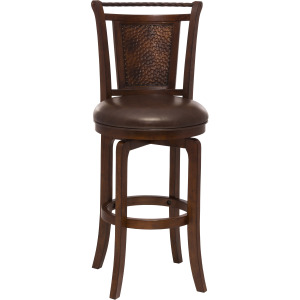 Norwood Swivel Bar stool - Brown