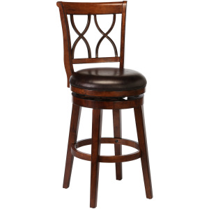 Reydon Swivel Counter Stool - Brown Cherry