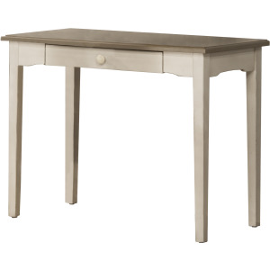 Clarion Desk - Distressed Gray Top with Sea White Base