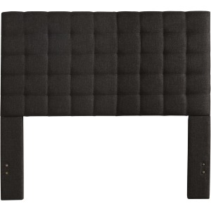 Bergen Queen Headboard Only - Onyx Linen