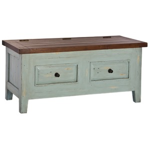 Tuscan Retreat Blanket Box - Sea Blue