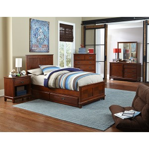Bailey 5pc Twin Bedroom Suite with Trundle - Misson Oak