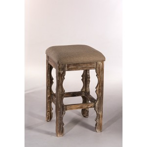 Carrara Backless Barstool - Whitewash
