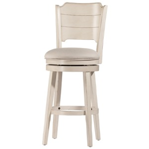 Clarion Swivel Bar Stool - Sea White