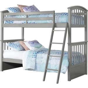 Schoolhouse 4.0 Sidney Twin Over Twin Bunk - Gray