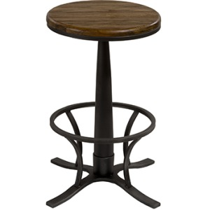 RIVAGE BACKLESS BAR STOOL - DARK SILVER HAMMER