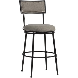 Thielmann Commercial Swivel Counter Stool - Granite/Dark Charcoal