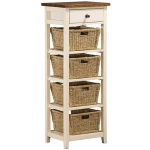 Tuscan Retreat 4 Basket Stand - Country White
