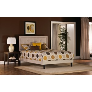 Becker King Bed Set - Cream Fabric