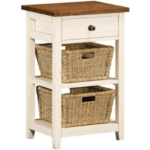 Tuscan Retreat 2 Basket stand - Country White