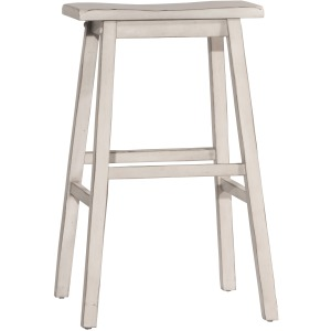 Moreno Backless Bar Stool - Sea White