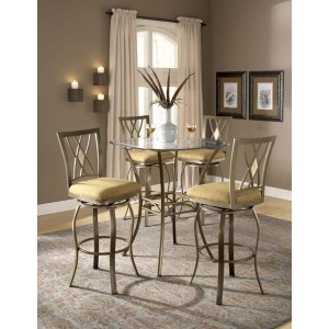 Brookside 5pc Bistro Set w Diamond Barstools