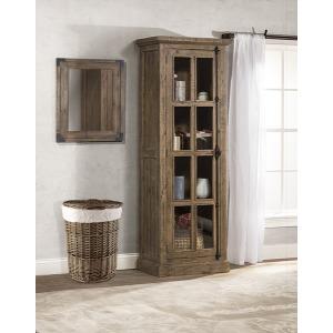 Tuscan Retreat Tall Single Door Cabinet - Aged Gray