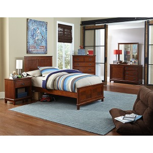 Bailey 4pc Twin Bedroom Suite - Misson Oak
