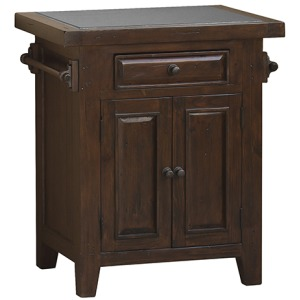 Tuscan Retreat Small Kitchen Island - Rustic Mahogany
