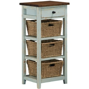Tuscan Retreat 3 Basket Stand - Sea Blue