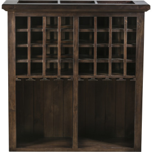 Tuscan Retreat Hutch with Wine Rack - Mocha