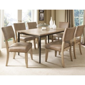 Charleston 7pc Rectangle Dining Set with Parson Chairs