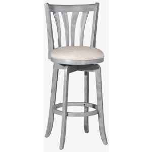 SAVANA SWIVEL COUNTER STOOL - BLUE WIRE BRUSH