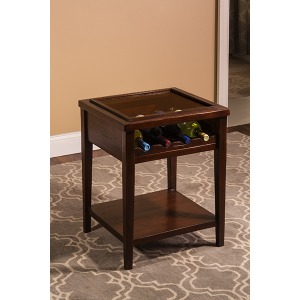 Tuscan Retreat Wine Display Table - Mahogany
