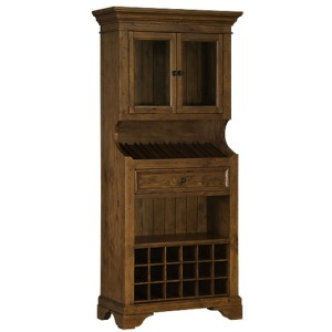 Tuscan Retreat Tall Slanted wine rack - Antique Pine