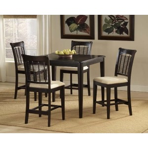 Bayberry 5pc Counter Height Set Dark Cherry