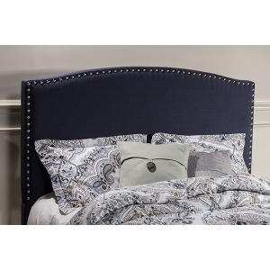 Kerstein Queen Fabric Headboard - Navy Linen