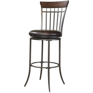 Cameron Spoke Back Swivel Barstool