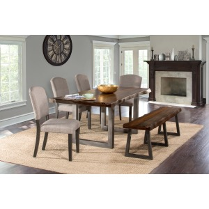 Emerson 6 PC Rectangle Dining Set - Gray Sheesham
