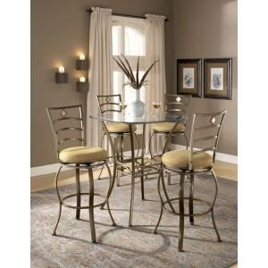 Brookside 5pc Bistro Set with Marin  Barstools