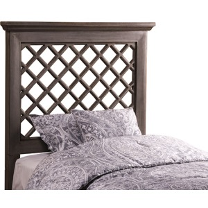 Kuri Twin Headboard - Distressed Gray