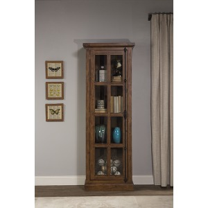 Tuscan Retreat Tall Single Door Cabinet - Antique Pine
