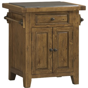 Tuscan Retreat Small Kitchen Island - Antique Pine
