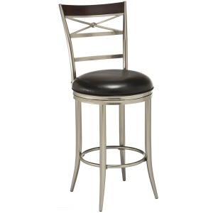 Kilgore Dull Nickel Counter Stool