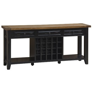 Tuscan Retreat Wine Soda Table - Black