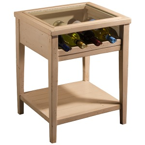 Tuscan Retreat Wine Display Table - Country White