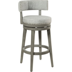 Lawton Swivel Counter Height Stool - Antique Gray