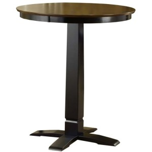 Dynamic Designs Pub Table Brown Cherry/Black