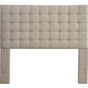 Bergen Queen Headboard Only - Sandstone Linen