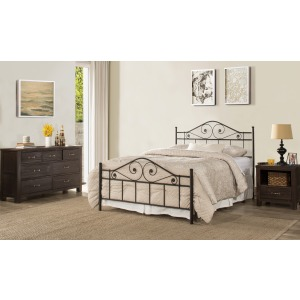 Harrison King Duo Panel Bed - Textured Black