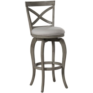 Ellendale Swivel Bar Stool - Aged Gray